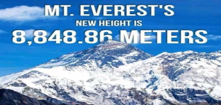 अब सगरमाथाको उचाई ८८४८.८६ मिटर