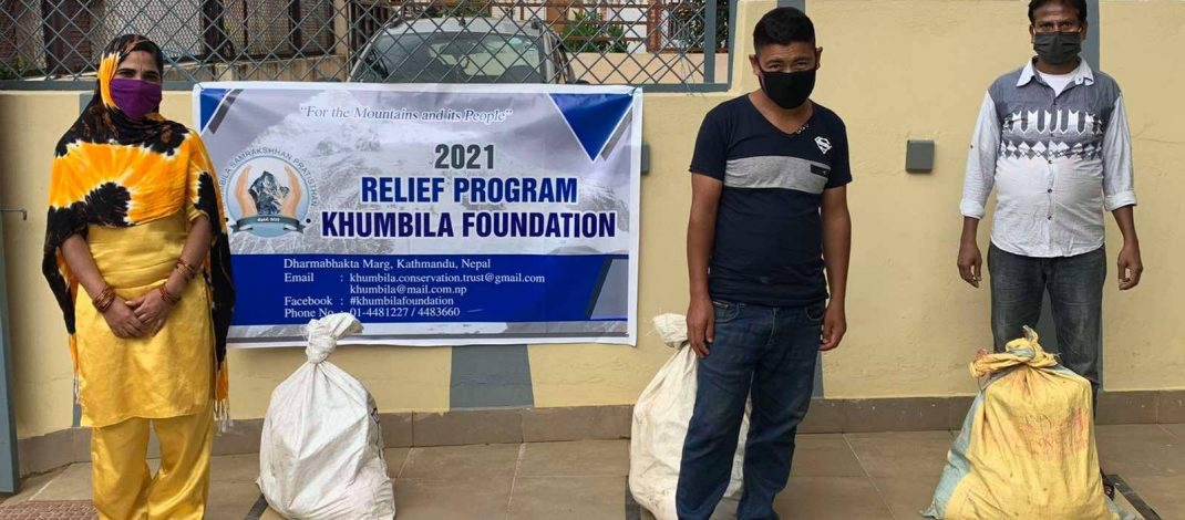 Khumbila foundation provides COVID-19 Relief care package to tourism workers